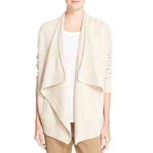VINCE Drape Front Wool & Cashmere Cardigan - Sz S
